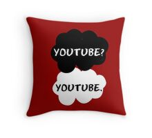 Youtube - TFIOS (red) Throw Pillow