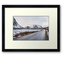 The road in the mountains Framed Print