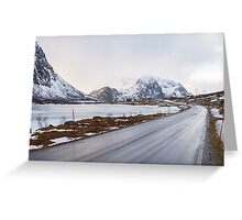The road in the mountains Greeting Card