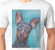 Miniature Pinscher Fine Art Painting Unisex T-Shirt