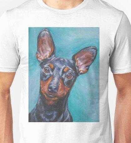 Miniature Pinscher Fine Art Painting Unisex T-Shirt