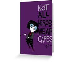 NO CAPES Greeting Card