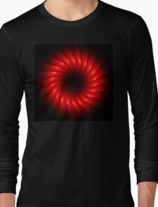 abstract red swirl design Long Sleeve T-Shirt