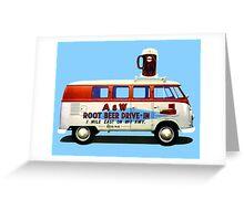 Custom VW Root Beer Camper Greeting Card