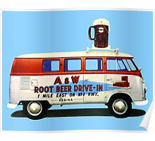 Custom VW Root Beer Camper Poster