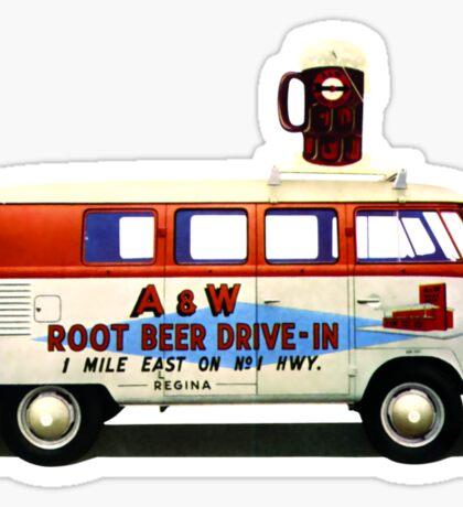 Custom VW Root Beer Camper Sticker