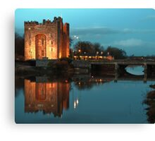 Bunratty Castle At Night, County Clare, Ireland Canvas Print