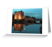 Bunratty Castle At Night, County Clare, Ireland Greeting Card