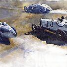 Start Italian GP 1923 Monza  by Yuriy Shevchuk