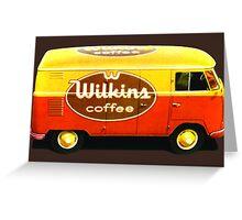 VW Custom Coffee Camper Greeting Card