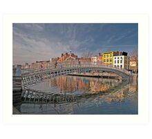 Dublin City Landmark, Ha'penny Bridge, Ireland Art Print