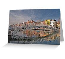 Dublin City Landmark, Ha'penny Bridge, Ireland Greeting Card