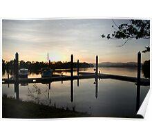 Sleepy Dawn - Johnstone River Moorings, Innisfail, Far North Queensland.  Poster