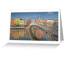 Dublin City Landmark, Ha'penny Bridge, Ireland Greeting Card
