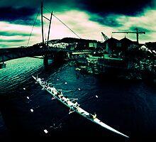 Frank Kitts Park Lagoon - Wellington by Derek Kan