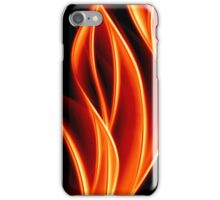 abstract golden flame iPhone Case/Skin