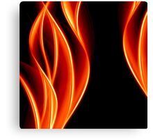 abstract golden flame Canvas Print