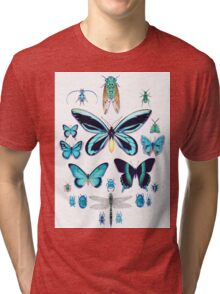 Teal Insect Collection Tri-blend T-Shirt