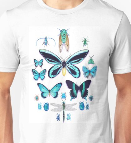 Teal Insect Collection Unisex T-Shirt