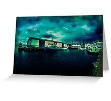 Queens Wharf, Wellington - New Zealand Greeting Card