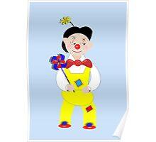 Cute Circus Mime Artist Clown Poster