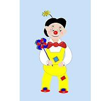 Cute Circus Mime Artist Clown Photographic Print
