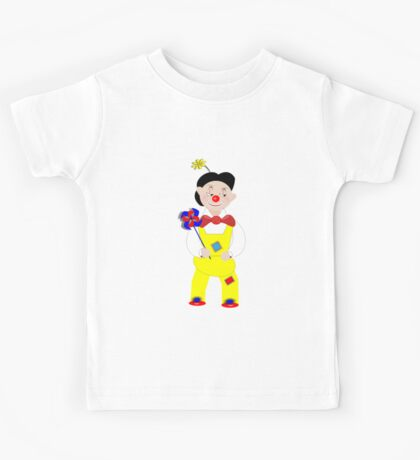 Cute Circus Mime Artist Clown Kids Tee