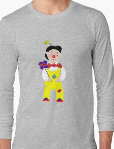 Cute Circus Mime Artist Clown Long Sleeve T-Shirt