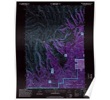 USGS Topo Map Oregon Summerfield Ridge 281690 1995 24000 Inverted Poster