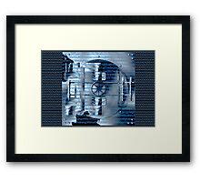 Digital encryption Framed Print