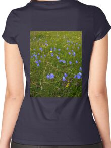 A sea of Harebells, Rossbeg, Co Donegal Women's Fitted Scoop T-Shirt