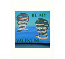 The Couple, Be My Valentine Art Print