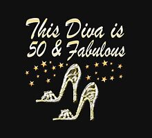 THIS DIVA IS 50 AND FABULOUS Women's Fitted Scoop T-Shirt