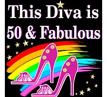 CHIC AND COLORFUL 50TH BIRTHDAY DESIGN Photographic Print
