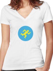 Running man Women's Fitted V-Neck T-Shirt