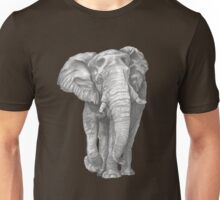 Elephant Drawing in Graphite Unisex T-Shirt