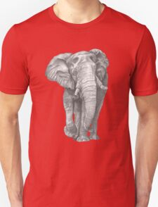 Elephant Drawing in Graphite T-Shirt