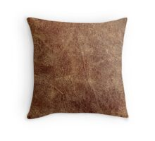 old leather Throw Pillow