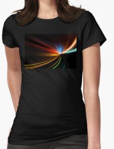 rapid race of night highway Womens Fitted T-Shirt