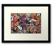 Blackberries and Hawthorn Framed Print