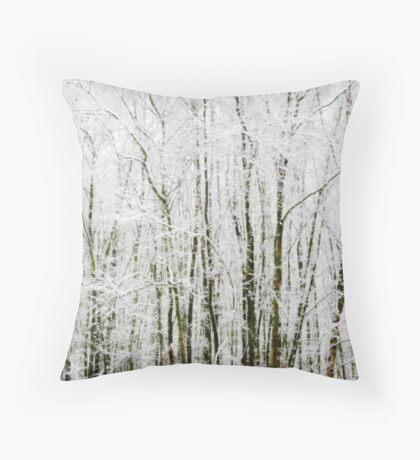 Soft Snowy Scene Throw Pillow