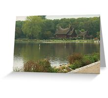 peaceful strawhouse from indonesia Greeting Card