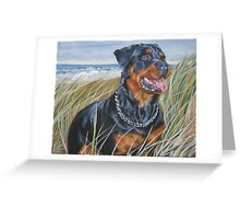 Rottweiler Fine Art Painting Greeting Card