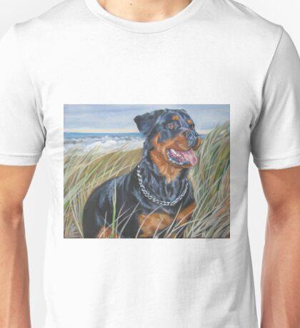 Rottweiler Fine Art Painting Unisex T-Shirt