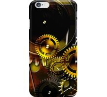 abstract steampunk machine mechanism iPhone Case/Skin