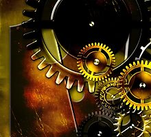 abstract steampunk machine mechanism by Orderposter