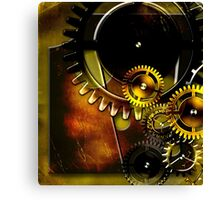 abstract steampunk machine mechanism Canvas Print
