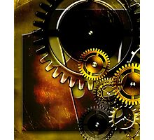 abstract steampunk machine mechanism Photographic Print