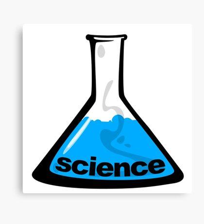 Science Beaker Blue Canvas Print