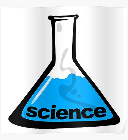 Science Beaker Blue Poster